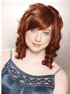 Deep Copper Hair Color with Light Copper Highlights.  Like this option as well.