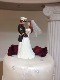 royal marine wedding cake toppers custom painted cake topper precious moments 19407