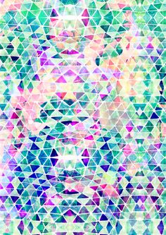 Pastel Triangle Art Print