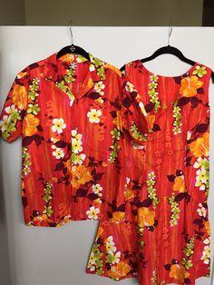Vintage Mens Tiki Shirt Womens Mid Century Tiki by retrocorrect