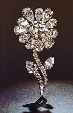 Diamond brooch flower design..