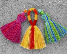 DIY Free Pattern and YouTube Tutorial Easy Simple Tassel Tassles Tassle Tassles Borlas by Donna Wolfe from Naztazia