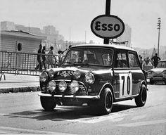 1965 Alpine: Timo Makinen. BMC Mini-Cooper S, 2nd