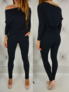 Fashion Sexy Off Shoulder Slim Jumpsuit - Women Store Trend Fashion, Autumn Fashion, Womens Fashion, Ladies Fashion, Fashion Inspiration, Fashion Usa, Fashion Online, Fashion Design, Mode Outfits