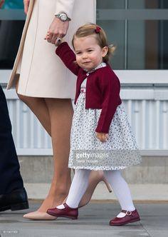 Princess Charlotte of Cambridge departs Victoria on October 1, 2016 in Victoria, Canada.