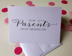 Mother Father of the Bride Groom Card  To my by YouGotMySunshine, $3.99