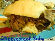 My go-to recipe for Quick & Tasty Cheesesteak Subs. It's simple, fast, & oh so delicious! #cheesesteak #recipe