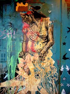 Swoon is a female street artist who uses cut out paper, rather than spray paint, to exhibit her work on the walls of America& city streets. Murals Street Art, Street Art Graffiti, Mural Art, Famous Street Artists, Graffiti Prints, Paper Artwork, Paper Artist, Art Graphique, Indian Art