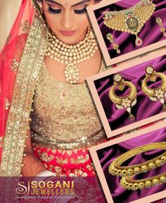 A Bride who follow her heart and met the destiny. From a traditional daytime ceremony to a contemporary cocktail celebration,  Tell us how you would style our collection.  Showroom Sogani Jewellers  C-19, Vaishali Marg, Vaishali Nagar Jaipur. Call- +919799809156, 0141-4024656. Shop Online www.soganijewellers4u.com