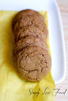 Gingersnap Cookies | Simply Love Food