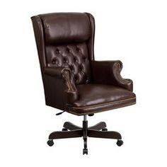 Flash Furniture Brown Traditional Executive Chair Ci-J600-Brn-Gg