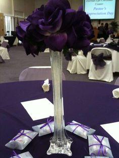 Purple Pastors Appreciation Party Ideas | Photo 6 of 29 | Catch My Party