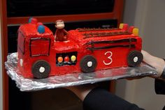 Fire engine Birthday cake ( my first cake) Fire Engine Cake, Engineering, Birthday Cake, Cakes, Scan Bran Cake, Birthday Cakes, Kuchen, Mechanical Engineering, Pastries