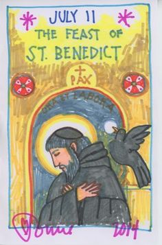 St. Benedict by Tomie dePaola. The Official Tomie dePaola Blog