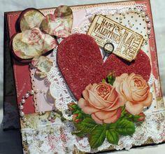 Shabby Chic Valentine Greeting Card