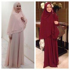 Hijab Fashion 2016/2017: Sélection de looks tendances spécial voilées Look Descreption suka dengan model busananya simple, cantik, syar'i