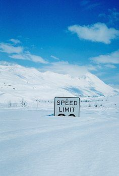 This photo is from Thompson Pass Valdez Alaska. I live in the Mojave Desert and can't even imagine being in this much snow! When we travel to Alaska, we normally go during cruising season and see snow but nothing like this! Wyoming, Valdez Alaska, Funny Road Signs, Winter Schnee, Foto Poster, I Love Snow, Big Sky Country, Snow Scenes, Winter Beauty