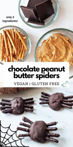 Gluten Free Snacks, Foods With Gluten, Dairy Free Recipes, Vegan Recipes, Cooking Recipes, Vegan Treats, Vegan Desserts, Vegan Chocolate, Chocolate Peanut Butter