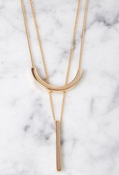 Layered Matchstick Necklace Set | Forever 21 - 1000113585