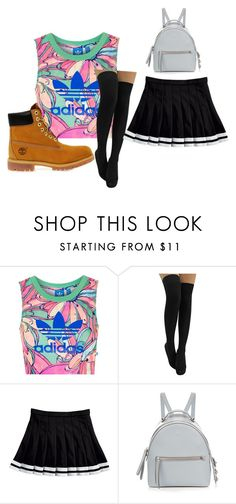 """""""Got bored"""" by flo-wer on Polyvore featuring Topshop, Fendi and Timberland"""