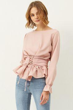 Abigail Corset Blouse Discover the latest fashion trends online at storets.com #corsetblouse #blouse #corset