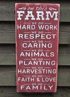 On this Farm we doFarm rules farm family by mockingbirdprimitive