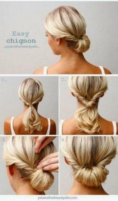 Penteado para cabelo curto facil de fazer