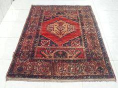 Turkish oushak rug handmade carpet, vintage oushak rug, home decor, overdyed rug, oushak rug, handwoven rug, floor rug, area rug, faded rug by Simavrug on Etsy