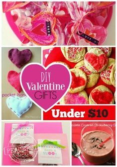 Want to show your love for your family but you're on a budget?Check out these simple but cute DIY #ValentineGifts for $10 or Less  -- from ThePeacefulMom.com