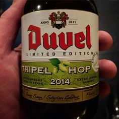 "Tripel the hop, quadrupel the fun! Duvel made the limited edition that you can get everywhere and at any time you want. Not that special... There has to be a serious shortage of hops in Belgium now. Tripel Hop is as bitter as Louis van Gaal after yet another Man Utd loss. Bitter in the way it makes you say: ""Sweet!"" (Duvel Moortgat, Breendonk Puurs, Belgium) (9.5% vol.) #Duvel #beer #hop #tripelhop #2014"
