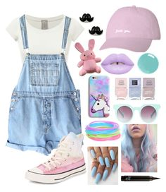 """""""Pastel"""" by bugs-bunny99 ❤ liked on Polyvore featuring Nails Inc., Quay and Converse"""