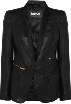 Leather Blazer - Lyst just-cavalli Blazers For Women dd9b82c3b5b5