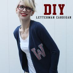"DIY Letterman Cardigan:: i need a gold ""G"" for Gryffindor on a scarlet cardigan. :3"