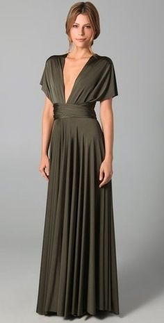 $200 to $350: This ultraelegant dress would be a fantastic option for your most dressed-up nuptials.    Twobirds Long Convertible Dress ($342)