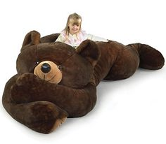 To know more about Hammacher Schlemmer The 7 Foot Slumber., visit Sumally, a social network that gathers together all the wanted things in the world! Featuring over 55 other Hammacher Schlemmer items too! Giant Teddy Bear, Teddy Bears, Big Teddy, Big Bear, Giant Stuffed Animals, Stuffed Bear, Stuffed Toys, Giant Animals, Hammacher Schlemmer