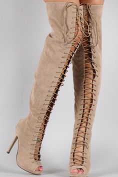Venon Lace It Up Thigh-High Boots