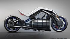 Motorbikes by Frédéric LE SCIELLOUR, via Behance