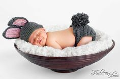 Baby Bunny Hat and  Diaper Cover / Perfect for by WillowsGarden