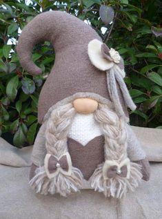 Large-Shabby-chic couple of gnomes wedding gnomes Swedish | Etsy