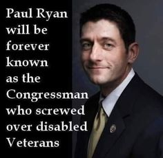 Another republican throws Veterans under the bus.