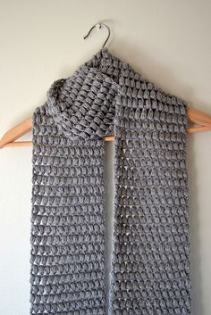 puff stitch scarf pattern
