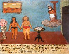 Чудотворящий Господь у Колонны, приносим тебе благодарности я, Аида Салсидо, и моя возлюбленная, Росио Гонсалес, за то, что ты нам помогал. Да, мы отличаемся, и нас не понимают, но нам нечего скрывать. Теперь мы живём вместе, и кажется, семья и окружающие люди начинают нас понимать.    Койоакан, 15 марта 1974.