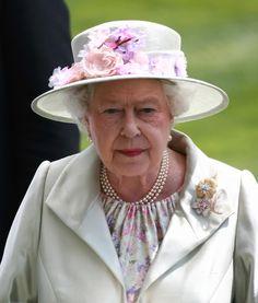 The Queen in a Rachel Trevor Morgan hat.