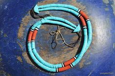 Vintage Southwestern Tribal Glass Turquoise & by Yourgreatfinds, $145.00