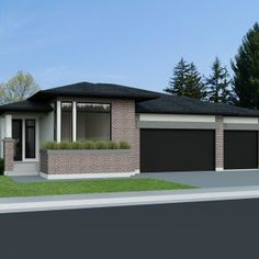 Bungalow Homes, Bungalow House Plans, House Floor Plans, Modern Farmhouse Plans, Modern House Plans, One Level House Plans, Canadian House, Drummond House Plans, Prairie Style Houses