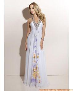 Elegantes langes Abendkleid aus Chiffon Träger