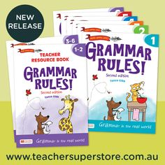 NEW RELEASE: Grammar Rules! (Second Edition) by Macmillan Education provides a context-based approach, demonstrating how grammar works at the word, sentence and text levels to communicate and make meaning. This award-winning series has been revised to meet the latest requirements of the Australian Curriculum: English.