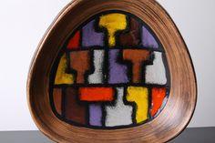 Large Bitossi Vetrata Aldo Londi Bowl Italian Ceramic Art 60's Mid Century Modern Abstract Cubist Pottery Pop Art Retro. £52.00, via Etsy.