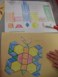 pattern block butterfly with graphing --- need to do this with the pattern block set