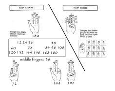 Base 13(0 à 12) et 61 (0 à 60). comptage des phalanges et des doigts.